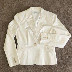 LOFT Jackets + Coats   Loft Ivory Cream Blazer